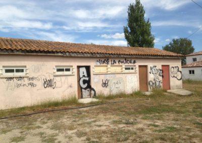 avant prestation nettoyage graffiti